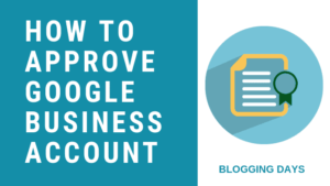 google business account approve