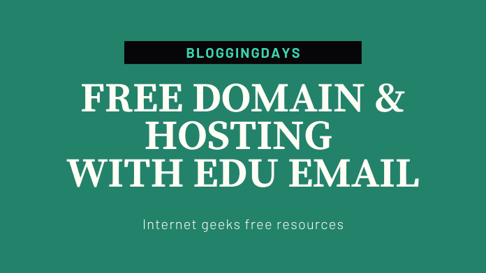 free domain hosting with edu email