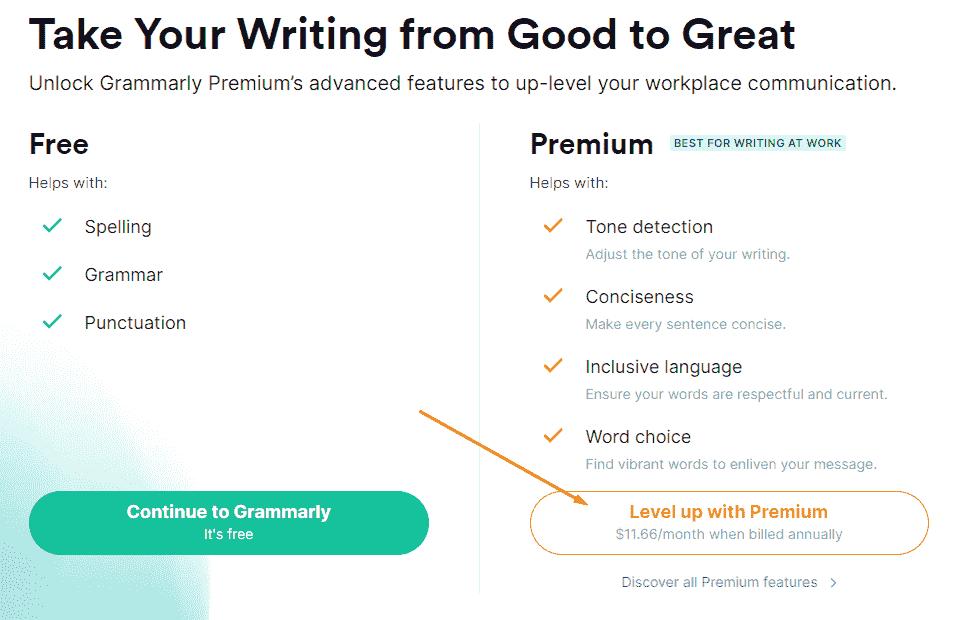 grammarly premium login